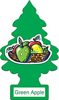 LITTLE TREES Car Air Freshener | Hanging Paper Tree for Home or Car | Green Apple | 12 Pack