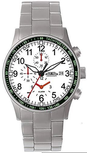 Astroavia H16SN - Reloj de pulsera para hombre con cronógrafo, mecanismo de cuarzo