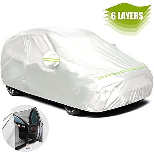 Favoto Hatchback Cover Car Cover Universal Fit 145 to 157 inch Right Side...