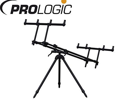 Prologic Tri-Lux Rod Pod für 4 Karpfenruten, Rod Pod, Rutenständer für Karpfenruten, Rutenhalter Zum Karpfenangeln, Karpfenrute