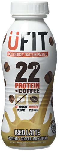 The Protein Drinks Co. UFIT 310ml Iced Latte Protein Shake Drink - Pack of 8 Bottles
