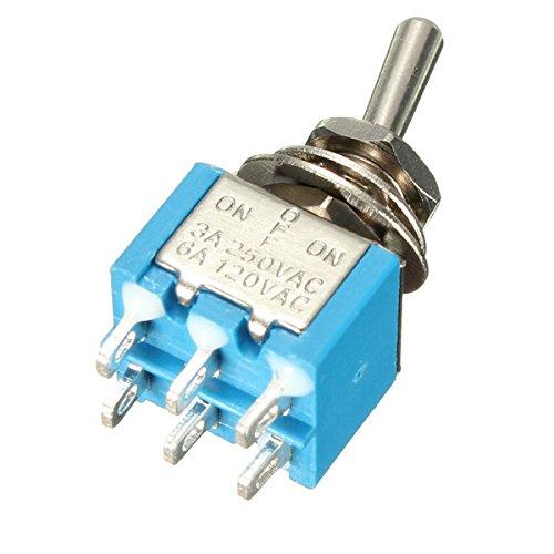 Wooya 6 Épingles 3 Position 3A 250V/6A 120V on/Off/on Toggle Switch