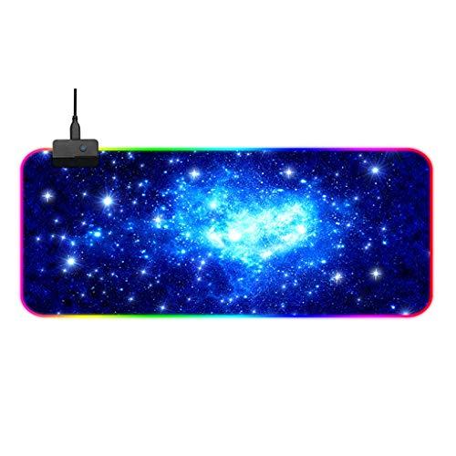 Mouse pad para jogos Sioyd RGB antiderrapante, grande, bacana para jogos com 14 tipos de luz