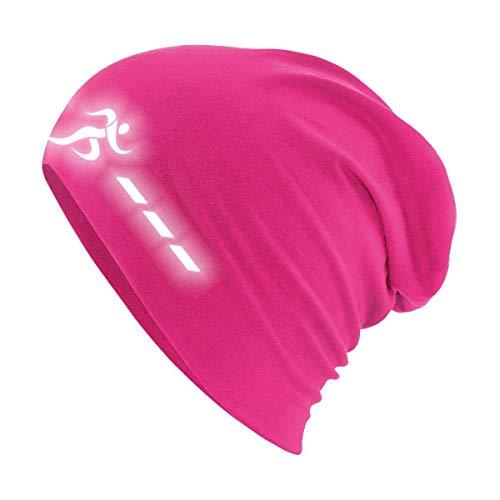 Roughtex Laufmütze Herren Damen Sport Mütze reflektierend zum Laufen Jogging Beanie Laufmützen Sommer Winter Pink XS/S