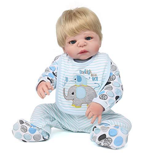 Muñeca Reborn De 22 Pulgadas, Muñeca De Simulación De Bebé De Silicona Suave De Cuerpo Completo, No Es Fácil De Caer, Extremidades Móviles, Compañeros De Juego para Bebés, Juguetes