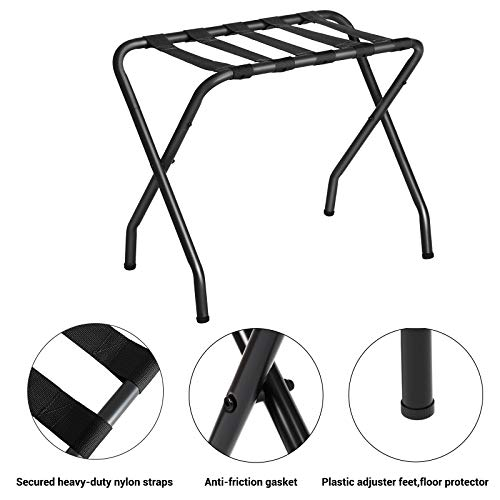 SONGMICS Luggage Rack, Black URLR64B-2