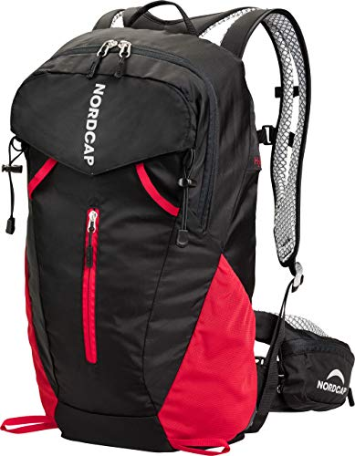 Nordcap Trekking-Rucksack, funktionaler Wanderrucksack, ergonomisches Design, inkl. Regenschutz & abnehmbarer Hüfttasche, viel Stauraum, unisex