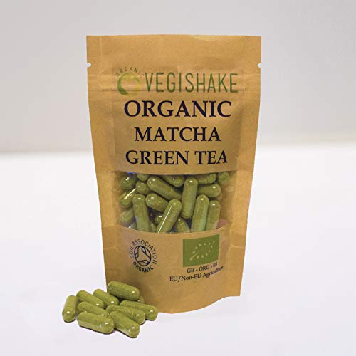 Organic Matcha Green Tea Vegan Pullulan Capsules EGCG Epigallocatechin Gallates (90 Capsules)