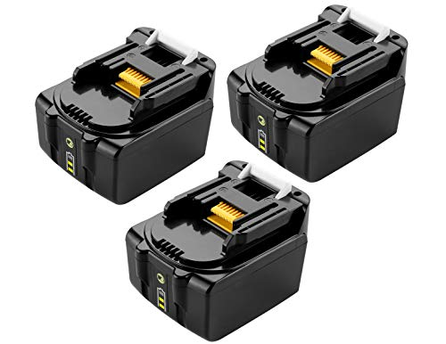 Lot de 3 batteries lithium-ion 14,4 V 4,0 Ah pour Makita BL1415 BL1430 BL1440 BL1440B BL1430B BL1415N 194065-3 196875-4 194558-0 195444-8 196388-5
