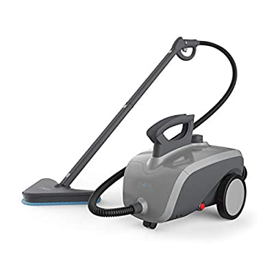 PureClean XL Rolling Steam Cleaner – 1500-Watt Multi-Purpose Household Steam Cleaning System Includes 18 Accessories Ideal for Deep Cleaning Floors, Windows, BBQ Grills, Ovens, Vehicles and More
