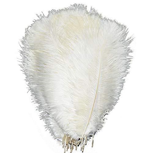 lanpeed 100Strauß Federn 45,7–50,8cm (45–50cm) für Home Hochzeit Party Dekoration weiß