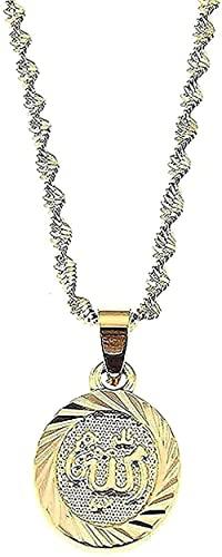 Collar personalizado Collar K Collar de escritura árabe Collar de color dorado Colgante de color dorado Joyas islámicas ovaladas para regalos para mujeres y hombres