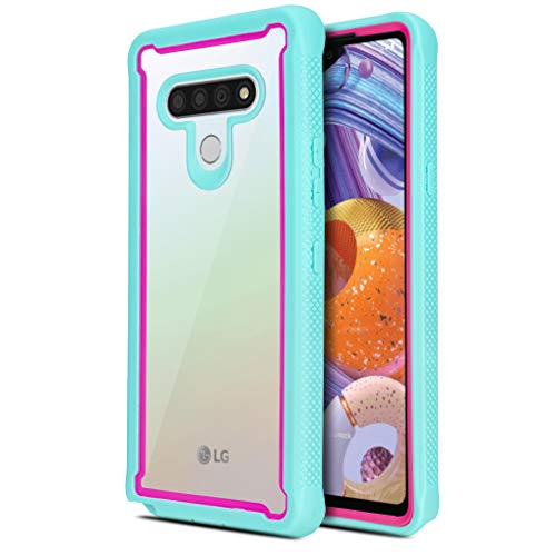 CasemartUSA Phone Case for [LG Stylo 6], [Fuze Series][Turquoise] Shockproof Defender Transparent Protective Bumper Cover for LG Stylo 6 (Cricket, Boost, Sprint, T-Mobile, Metro, Verizon)