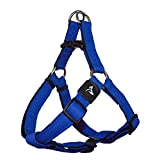 KRUZ PET KZA201-02M Step in Mesh Dog Harness – No Pull, Easy Fit Adjustable Pet Harness – Comfortable, Lightweight Padded Harness for Walking or Training Small, Medium, or Large Dogs, Blue, Medium
