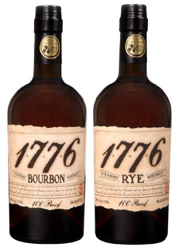 1776 American Straight Whiskey Mischpaket 1 x 0,7l Bourbon 1 x 0,7l Rye