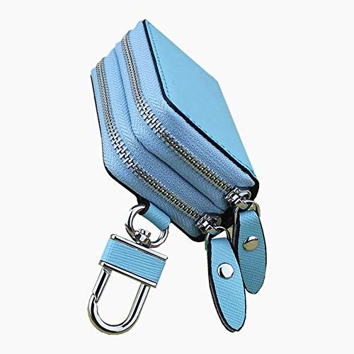 KaiKai Key casePopular Neue Art-Doppelt-Reißverschluss-Kreuz-Muster-Leder-Schlüssel-Beutel Double Layer Reißverschluss Auto-Schlüssel-Leder-Kasten-Auto-Schlüssel-Art-5