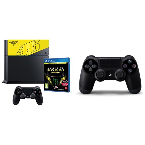 PlayStation 4 1 Tb C Chassis + Valentino Rossi The Game + Controller Jet Black