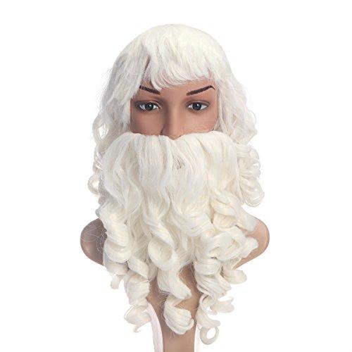 Conjunto de barba y peluca de Santa Claus para Navidad unisex