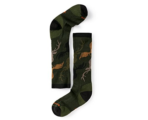 SmartWool Boys' Wintersport Camo Socks (Loden) Large
