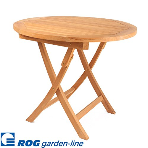ROG garden-line TL8113: Teak Tisch Sunset, RUND, KLAPPBAR, 90 cm