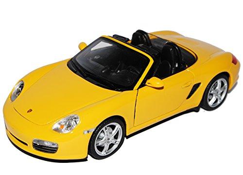 günstig Porsche 987 Boxster S Gelbes Cabrio Offenes Cabriolet Metall Modell 1/24 Welly Modell Auto Auto Modell Vergleich im Deutschland