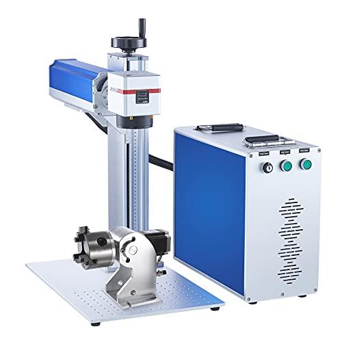 OMTech 30W Fiber Laser Marker Engraver with 3