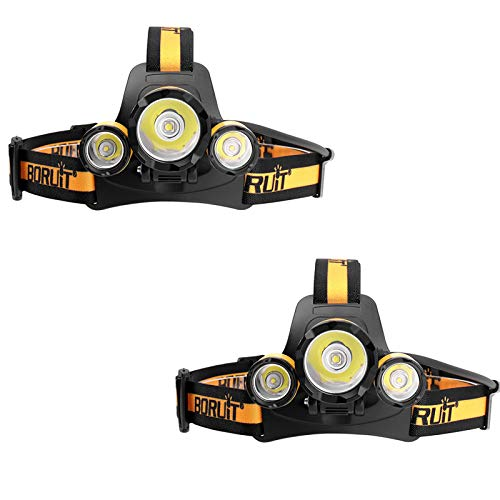 ASDSDF LED Headlamp, 4 Lighting Modes, Head Torch, Battery Pack Design, Waterproof Headlight With Adjustable Lamp Head Angle for Outdoor Activities