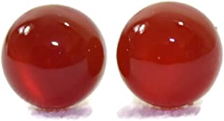 Titanium Hypoallergenic Earrings with 6 MM Natural Carnelian Agate