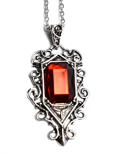 The Mortal Instruments City of Bones Inspired Pendant - Isabelle Lightwood Ruby Necklace in Black Gift Box