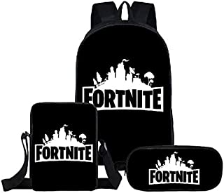 Shareculture Fortnite Backpack 3 in 1 Fortnite Bag School Backpacks Fortnite Pencil Case Fortnite Lunch Bag Travel Shoulder Bag