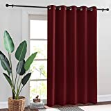 RYB HOME Red Curtains 84 inches Long - Room Darkening Insulating Drapes for Kids Nursery Bedroom Living Room Dining Large Window Decor, W 70 x L 84, 1 Pc, Burgundy Red
