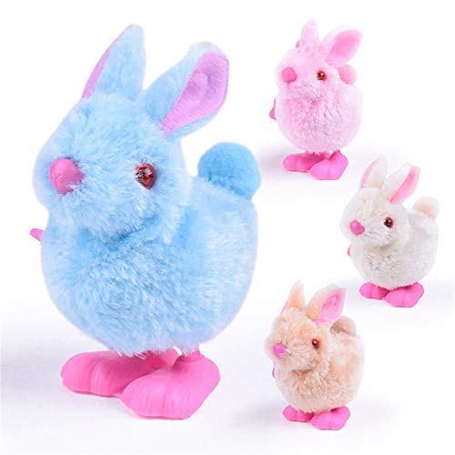 YLLQXI Easter Pluh Bunny Toys,Soft Hugging Plush Stuffed Bunny Animal Toys Infant Child Stuffed Hopping Wind Up Toys, Easter Gift for Baby and Toddler Girls or Boys