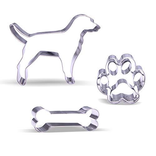 Hund Ausstecher Set – 3 Stück - Rostfreier Stahl