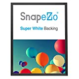 SnapeZo Poster Frame 24x32, Black, 1.25 Inch Aluminum Profile, Front-Loading Snap Frame, Wall Mounting, Professional Series