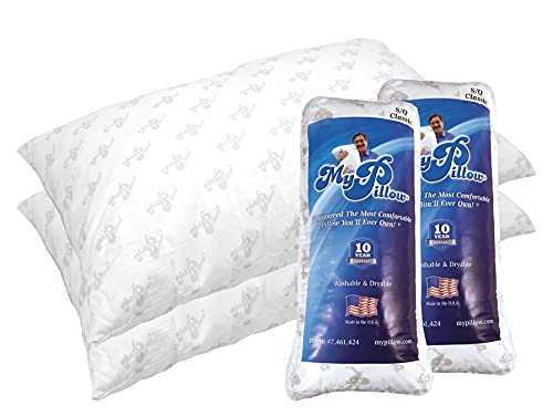 MyPillow Classic Bed Pillow 2 Pack [Standard/Queen, Medium]