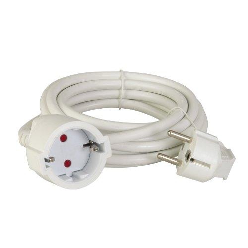 uniTEC 44542 - Cable alargador (H05VV-F 3G, 1, 5 mm², 5 m),...