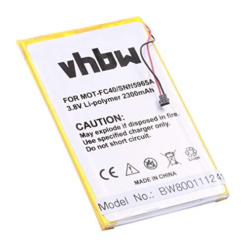 vhbw Li-Polymer Akku 2300mAh (3.8V) für Handy Smartphone Telefon Motorola Moto G 2015, G 3rd gen, G3, G3 Dual SIM, XT1540 wie FC40, SNN5965A.