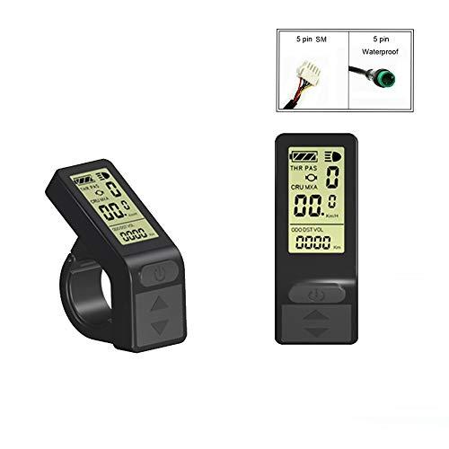 Elektrofahrrad KT LCD4 Display 24V 36V 48V Ebike Panel Smart Control Kleines Display für Umrüstsatz für Elektrofahrräder (SM Connector)