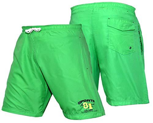 KIKFIT Pantaloncini sportivi da uomo con tasche Leggeri e traspiranti Pantaloncini da palestra attivi per allenamento, allenamento, jogging, abbigliamento casual (Verde, S)