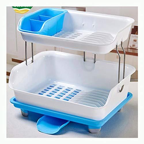 Haushalt Küche Lagerregal Essstäbchen Löffel Lagerung große Kapazität Multifunktionsablauf Rack grün/pink/blau YGDH (Color : C)