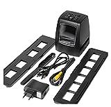Piezas de Impresora 3D Escáner de Alta resolución Convierte Digital USB Negativos Diapositivas Escaneo fotográfico Convertidor de película Digital portátil 2.36 Pulgadas LCD (Color : Default)