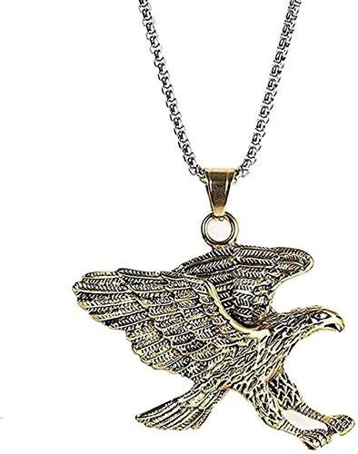 Collar joyería animal de moda collar colgante de águila collar colgante de acero de titanio collar colgante de acero inoxidable accesorios de acero de titanio hombres regalo de oro blanco para mujeres
