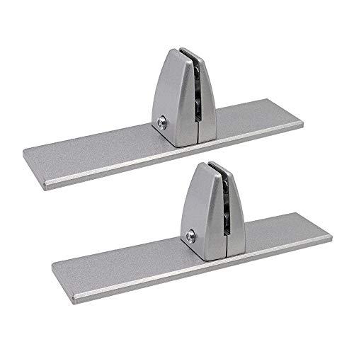 XLNB Klemmhalter für Plexiglas,Sichtschutz-Bildschirmclips Aus Aluminiumlegierung,Fuß für Spuckschutz,Tisch-Trennwand-Klemme für Heimbüro,6pcs