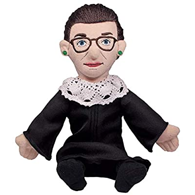 "Ruth Bader Ginsburg Little Thinker - 11"" Plush Doll for Kids and Adults from The Unemployed Philosophers Guild"