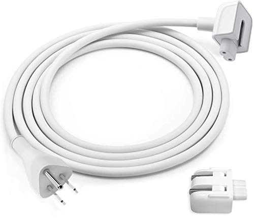 SoonTech Power Adapter Extension Cord Compatible for Apple Mac iBook MacBook Pro Air Power Adapter Extension Cable with 45W, 60W, 85W, 61W, 87W MagSafe or MagSafe 2 Models