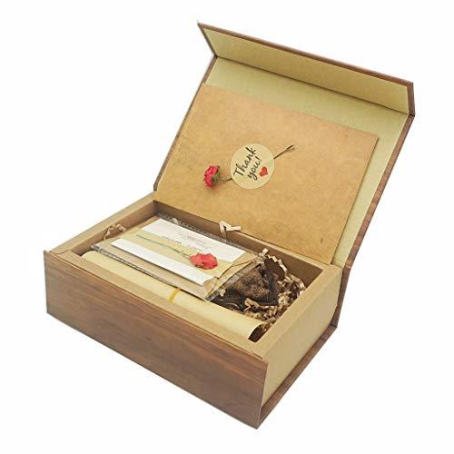 Unità Flash USB LUCKCRAZY 16GB Chiavette USB in Legno Pennine Memoria USB 2.0 con Scatola di Imballaggio per il Compleanno Vacanza Festa Natale