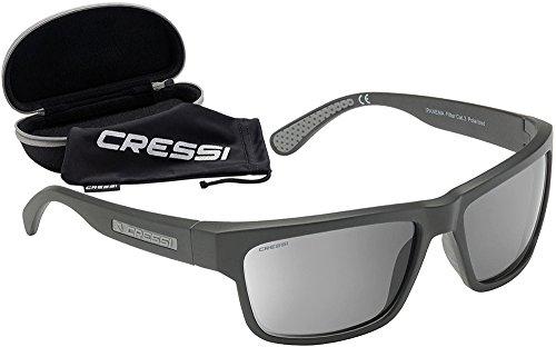 Cressi Ipanema Sunglasses Occhiali da Sole Sportivi, Unisex Adulto, Nero/Nero