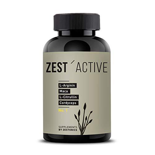 ZEST\'ACTIVE - L-Arginin Base, Maca, L-Citrullin und Cordyceps von zestonics