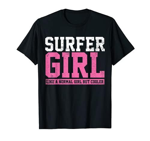 Surfer Girl Surfing Gift T-Shirt