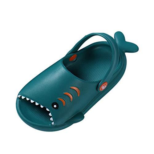 Padaleks Unisex-Child Kids' House Slippers Cute Cartoon Beach Shoes Shower Sandal for Toddler Little Girls Boys Green